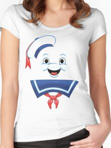Mr. Marshmallow Destruction (Happy Version) Women's Fitted Scoop T-Shirt