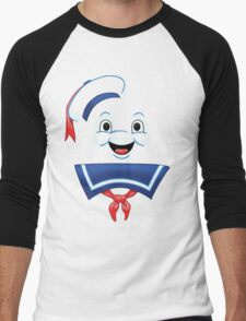 Mr. Marshmallow Destruction (Happy Version) Men's Baseball ¾ T-Shirt