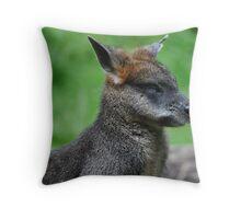 Go Away, I'm Sleeping! (Swamp Wallaby) Throw Pillow