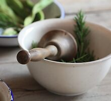 pestle and mortar by Maggie Lowe