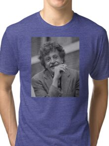 Kurt Vonnegut Black and White Portrait Tri-blend T-Shirt