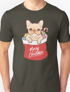 Frenchie comes with Santa Claus Unisex T-Shirt