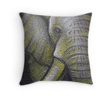 Yellow Elephant Canvas Print Throw Pillow