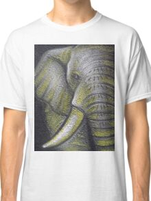 Yellow Elephant Canvas Print Classic T-Shirt