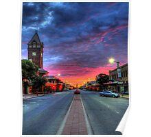 Main Street Sunrise Poster