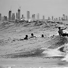 Surf City mono by Odille Esmonde-Morgan