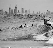 Surf City mono by Odille Esmonde-Morgan