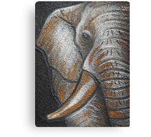Orange Elephant Canvas Art Canvas Print