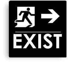 """EXIST"" Existential Signage - NoirGraphic Original  Canvas Print"