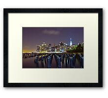 Down by the Shore  Framed Print