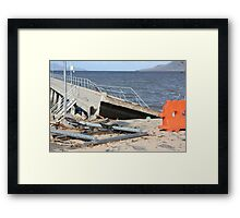 Cardwell Jetty Cyclone Yasi 2011 North Queensland, Australia Framed Print