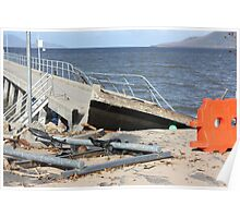 Cardwell Jetty Cyclone Yasi 2011 North Queensland, Australia Poster
