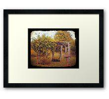 Uwharrie Grape Arbor (TTV) Framed Print