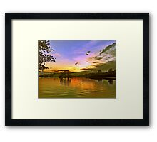 Lochy Sunset Framed Print