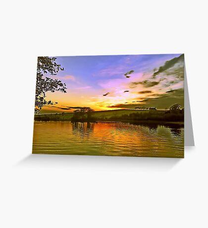 Lochy Sunset Greeting Card
