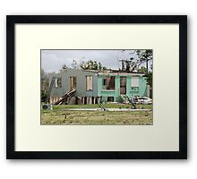 devastation of loosing ones home cyclone yasi - Tully/Hull Heads, North Queensland, Australia Framed Print