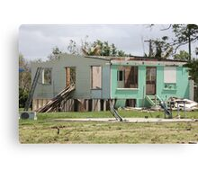 devastation of loosing ones home cyclone yasi - Tully/Hull Heads, North Queensland, Australia Canvas Print