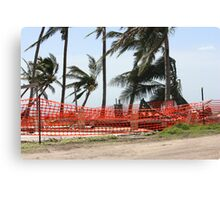 nothing left of this home after Cyclone Yasi - Tully Heads, North Queensland, Australia Canvas Print