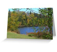 Autumn Trees Around Lake Greeting Card