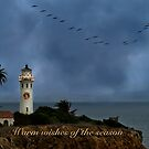 Storm brewing off Point Vicente - card 1 by Celeste Mookherjee