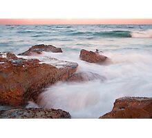 The Entrance Rocks Sunset Photographic Print
