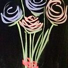 Fleeting Flowers - Chalkboard Art by Pixie-Atelier
