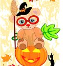 Halloween Teddy with glasses (3179 Views ) by aldona