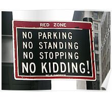 New York City Traffic Sign Poster