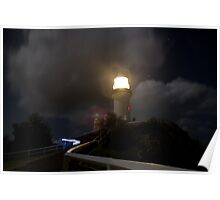 Byron Bay - Light House at night. Poster