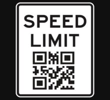 SPEED LIMIT in QR CODE Kids Tee