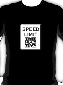 SPEED LIMIT in QR CODE T-Shirt