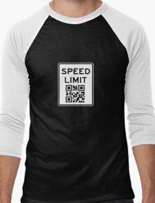 SPEED LIMIT in QR CODE Men's Baseball ¾ T-Shirt