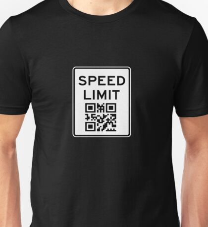 SPEED LIMIT in QR CODE Unisex T-Shirt
