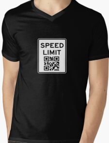SPEED LIMIT in QR CODE Mens V-Neck T-Shirt