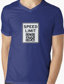 SPEED LIMIT in QR CODE Mens V-Neck T-Shirt