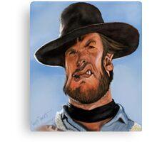 Clint Eastwood Caricature Canvas Print