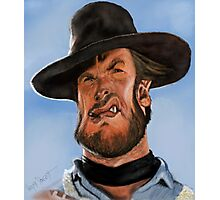 Clint Eastwood Caricature Photographic Print
