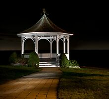 Gazebo at Night by (Tallow) Dave  Van de Laar