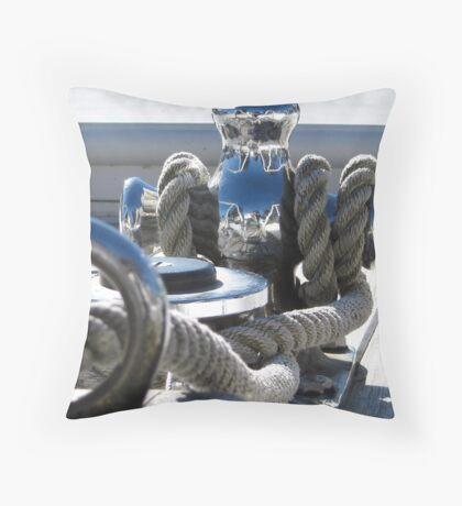 chrome reflection Throw Pillow