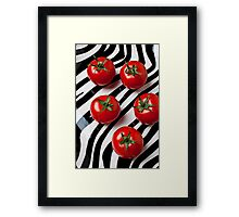 Five tomatoes  Framed Print