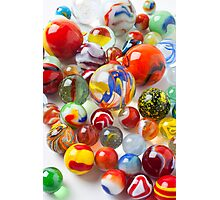 Many beautiful marbles Photographic Print