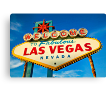 Welcome to Las Vegas sign Canvas Print