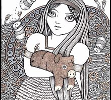 Alice & the Pig Baby WIP by Anita Inverarity