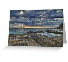 Snapper Rocks Sunrise Greeting Card