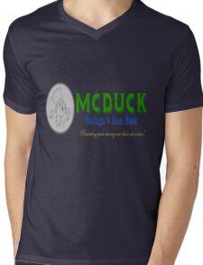 McDuck Bank Mens V-Neck T-Shirt