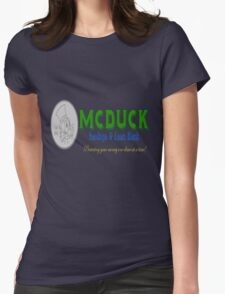 McDuck Bank Womens Fitted T-Shirt