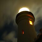 Byron Bay, Light House at night by benjilach