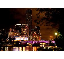 0348 Melbourne - White Night 8 Photographic Print