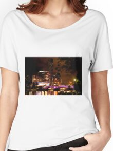 0348 Melbourne - White Night 8 Women's Relaxed Fit T-Shirt