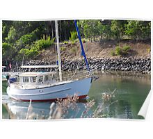 Turnabout Bridge Sailing Boat Poster